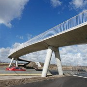 safe, modern bridge with white fence, bridge design by ipv Delft