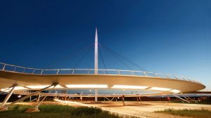 circular cable-stayed bicycle bridge, design by ipv Delft, Eindhoven