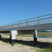 floodable creek bridge, bridge family Noordwaard, bridge designs by ipv Delft