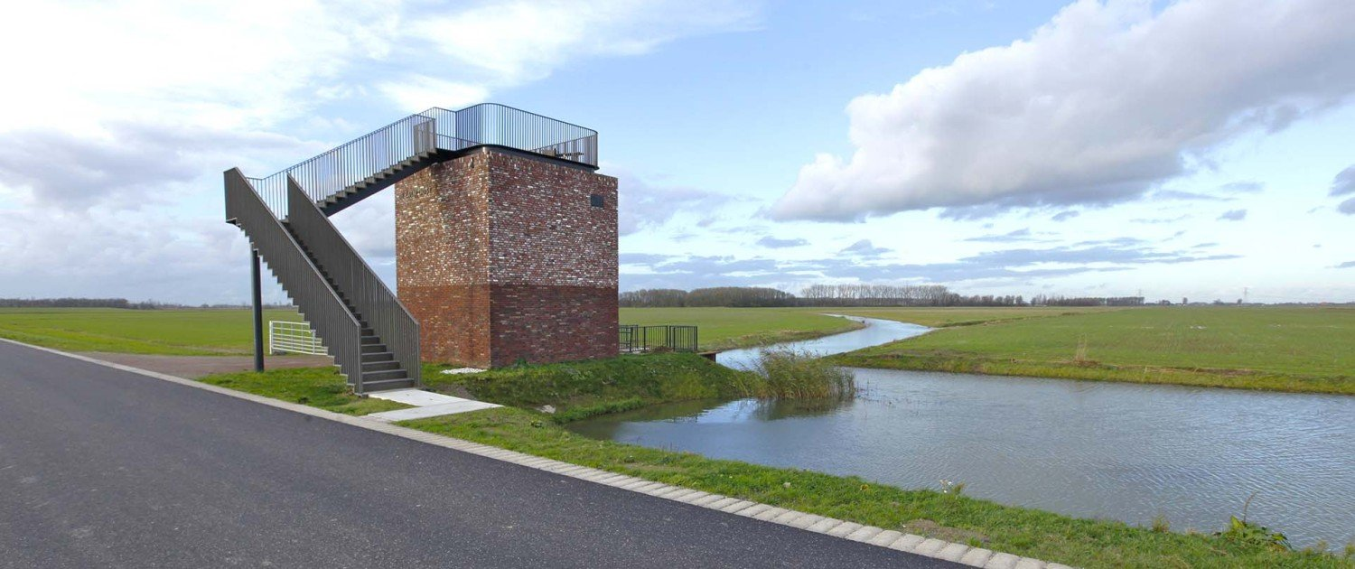 water pumping station Noordwaard, design by ipv Delft